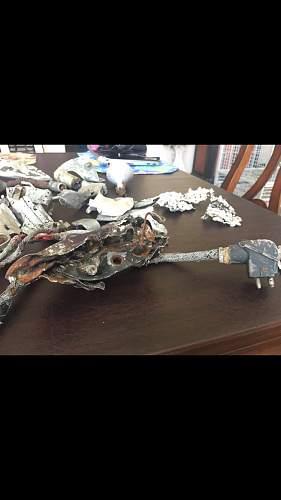 Bf110E crash relics from ukraine