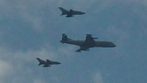 Look what flew over my house today