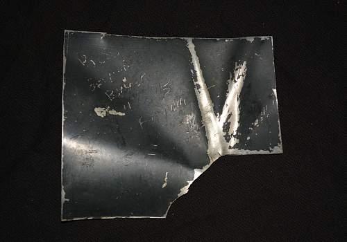 Piece of German Bomber 4/3/45 Belgium