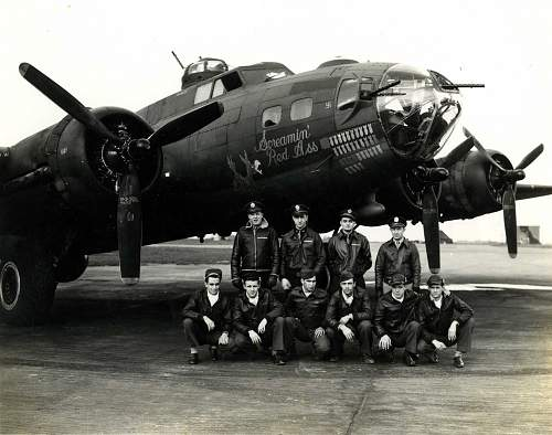 Click image for larger version.  Name:Screamin Red Ass Crew B-17.jpg Views:5077 Size:172.9 KB ID:244948