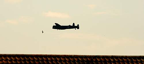 Lancaster flying over