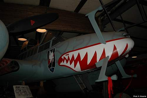 Me 110 HG-4 werk.nr. 60728 replica/restorationon display in Denmark