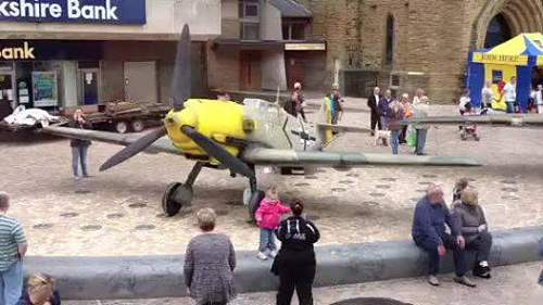 Looks whats landed in Blackpool town centre!