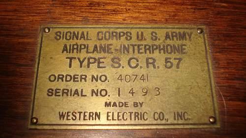 WW1 DH 4 Comms Box