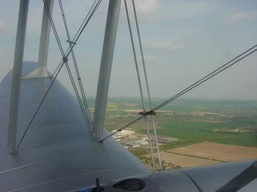 A flight in a wartime De Haviland Dragon Rapide.
