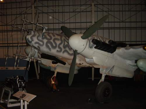 Bf110 G4 at the RAF Museum