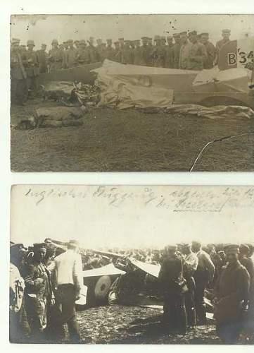 WWII german photos - postcards - crashed planes
