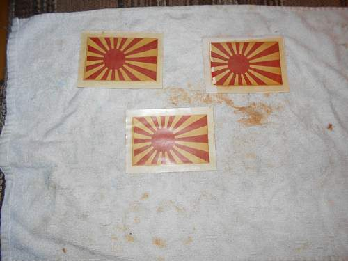 DOWNED JAPANESE PLANE DECALS any value to these things?????