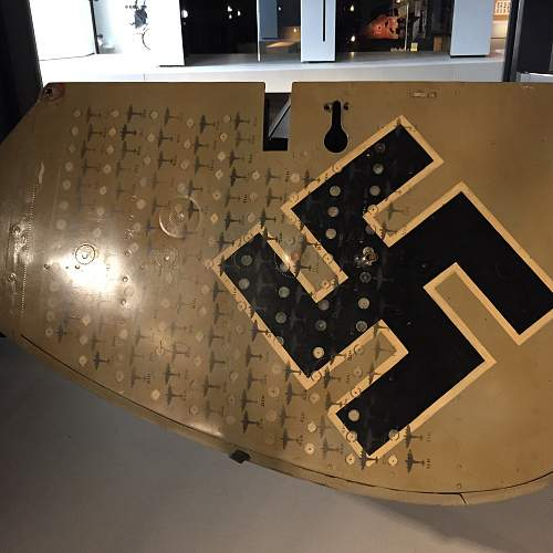 Tail Rudder of a ME110 with kills.