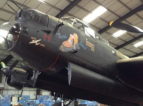 On board Avro Lancaster 'Just Jane'
