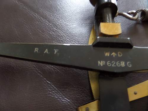R.A.F. aircraft wire cable tautness meter Mk IV