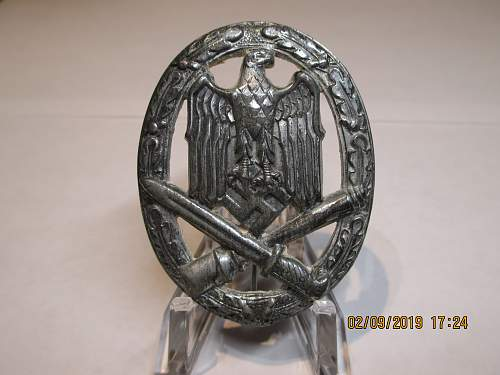 Allgemeines Sturmabzeichen Silver Unmarked