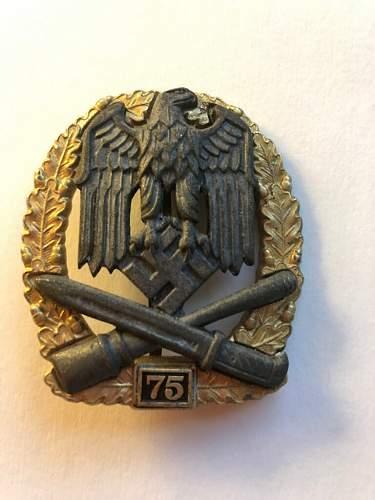 """Allgemeines Sturmabzeichen """"75"""" jfs up for review"""