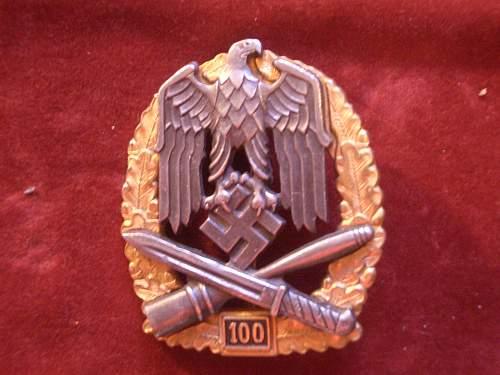 FAKE Allgeneines Sturmabzeichen '100'