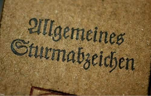 Allgemeines Sturmabzeichen. Original or Fake?