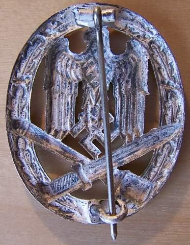 GWL Allgemeine Sturmabzeichen/General Assault badge