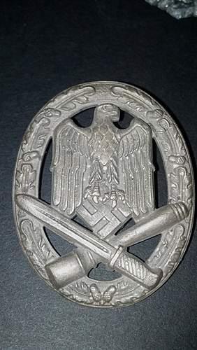 """Allgemeine Sturmabzeichen, Maker mark """"A"""", rare screwback"""