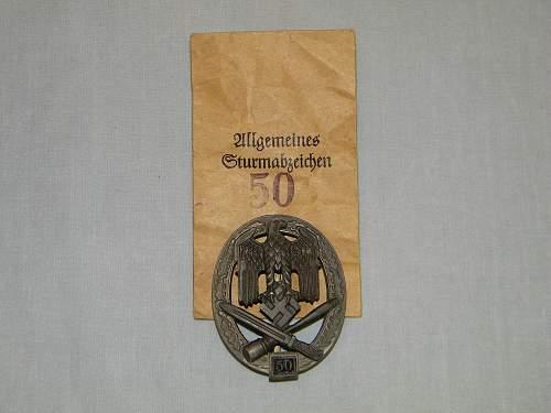 """Allgemeines Sturmabzeichen """"50"""" by RK"""
