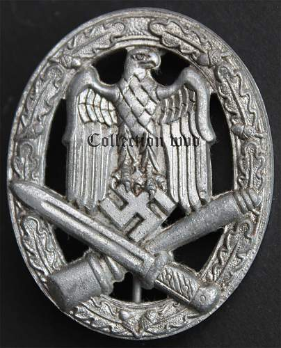Wiedmann variants of the Allgemeine Sturmabzeichen.