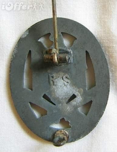 RS marked allgemeines sturmabzeichen