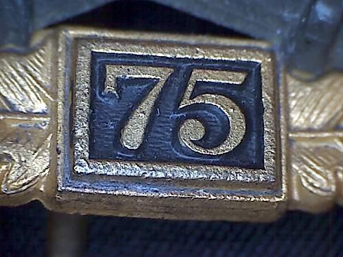 JFS Grade IV (75) Allgemeines Sturmabzeichen.