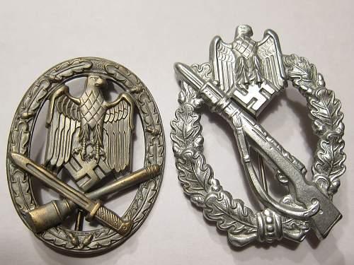 Early Allgemeines Sturmabzeichen - General Assault Badge - Tombak