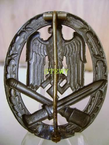 Panzerkampfabzeichen & Allgemeines Sturmabzeichen please look!