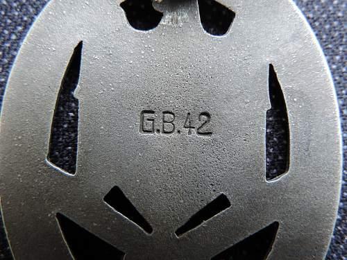 Allgemeines Sturmabzeichen G.B.42