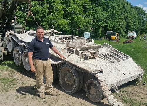 Allied tank track from the battlefield