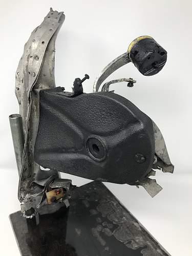Messerschmitt BF-109 Recovered Throttle Section