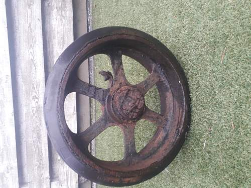 M5A1 Stuart wheel, Forest find
