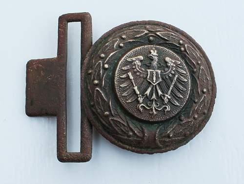 Interesting belt buckle
