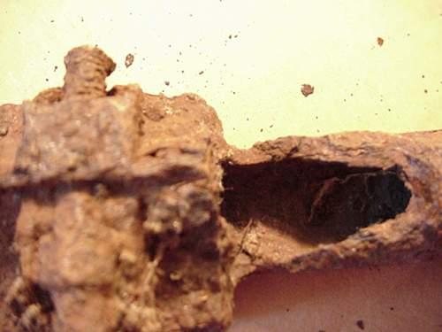 ground dug K98 GRENADE LAUNCHER TUBE