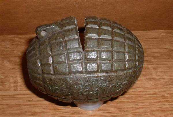 unidentified grenade