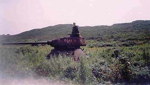 Destroyed T 34 tanks in Russia- far east