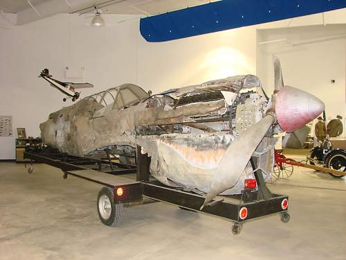 Curtis P-40 Warhawk wreckage on Ebay