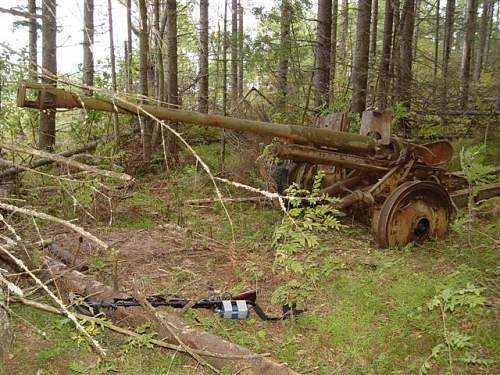 Pak 38 gun in Tutters island, Russia ( ex-Fininsh territory)