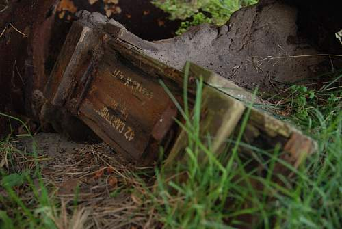 LOADS of BIG finds at WW2 airfield, bomb containers? explosive crates etc