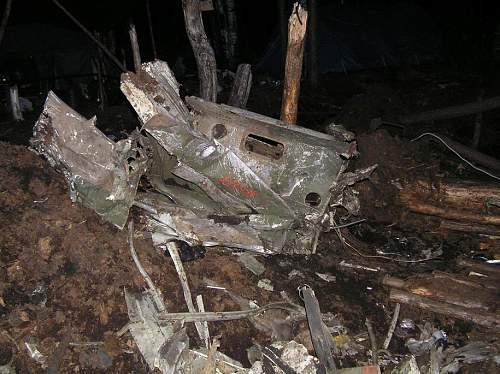 P-40 Kitty Hawk, recovered near Sinjavino Russia
