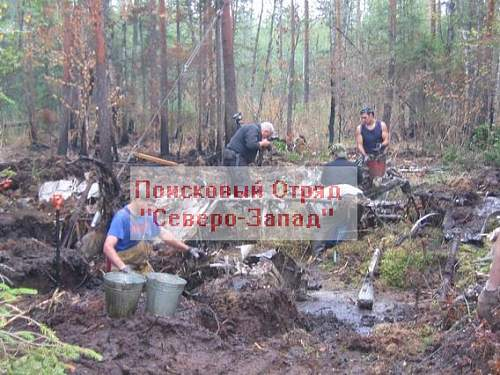 DB-3 bomber, recovered in Karelia 2006 year