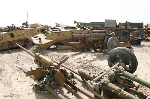 Battle-damaged Vehicle Scrap yard - Site 1