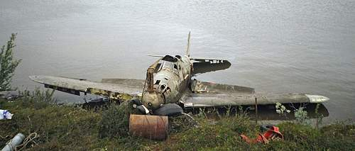 P-39 Airacobra recovered from Mart- Jarv lake Northern Russia