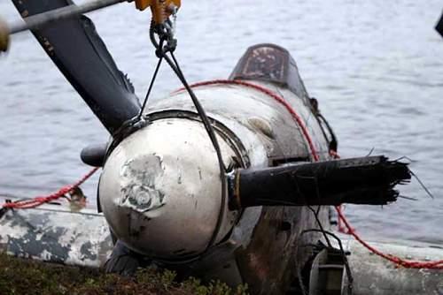 Hawker Hurricane recovered from lake near Murmansk