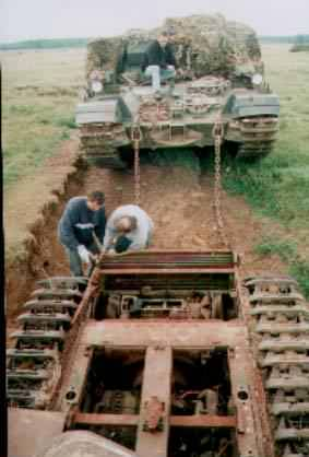 Churchill Tank in Norfolk Army Training Area. Where is it now?