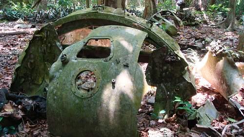 B-17E Bomber Crash Site, Santo, Vanuatu.