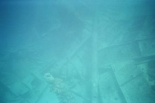 WWII relics dive. Tanks, Jeeps, Trucks.