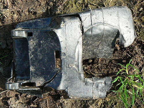 various relics found at ww2 airfield
