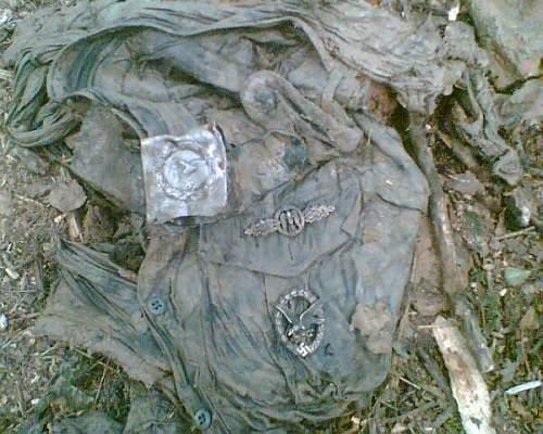 JU 87 D wreck , June 2007 found in Russia