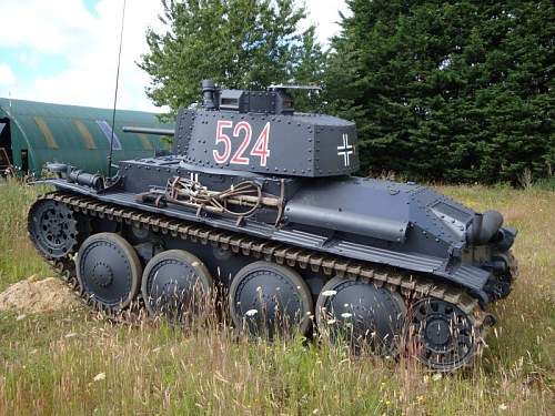 An other Panzerstellung with PzKpfw 38(t) turret