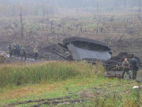 T-34 Flamethrower tank recovered in Pskov region